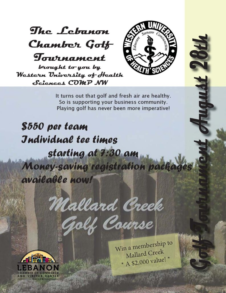 Lebanon Chamber Golf Flier Page 1