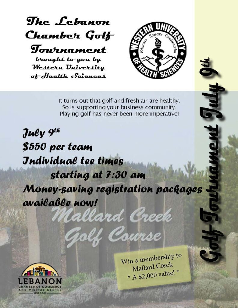 2021 Leb Chamber Golf Tournament Flier Page 1